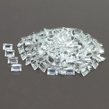 Natural AAA White Topaz Baguette Gemstone