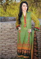 Three piece lawn salwar kameez suit Barkha lawn design no. 786/pakistani lawn wholesale