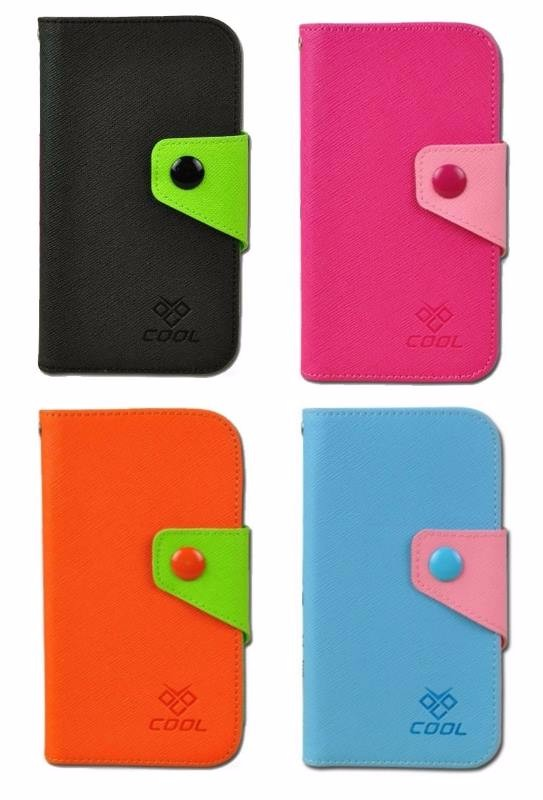 PU Canvas Rainbow Cover Flip Case for Lenovo A880
