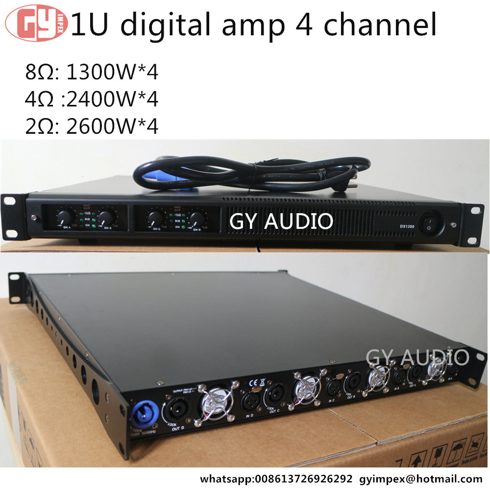 DX1300 1300W*4 Class D 4 channels 1U digital power amplifier
