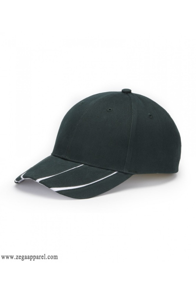 Zega Apparel Baseball Cap with Embroidery and PVC Embossed