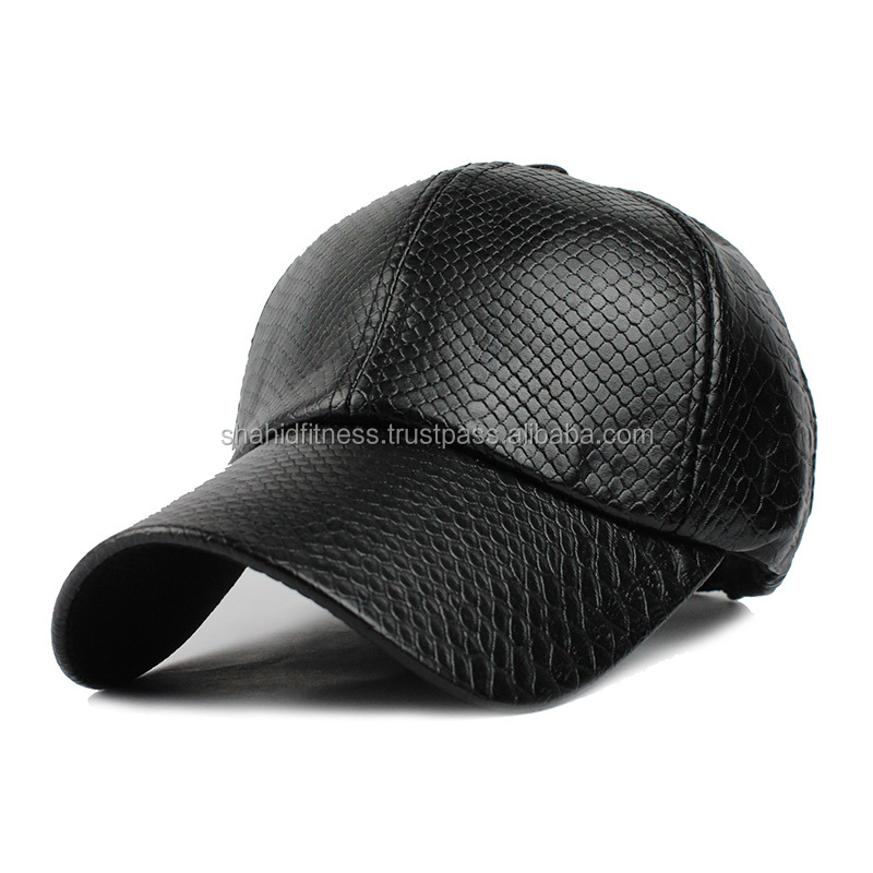 leather cap in brown color hats for men in cheap /sialkot