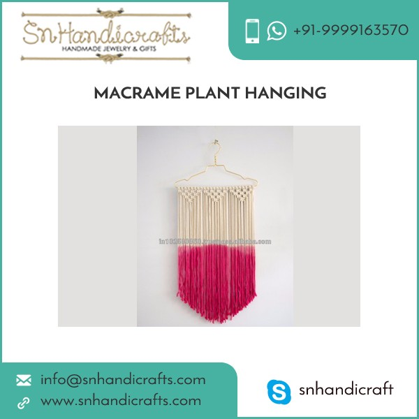 Perfect Finish High Durable Macrame Plant Hangers at Factory Price