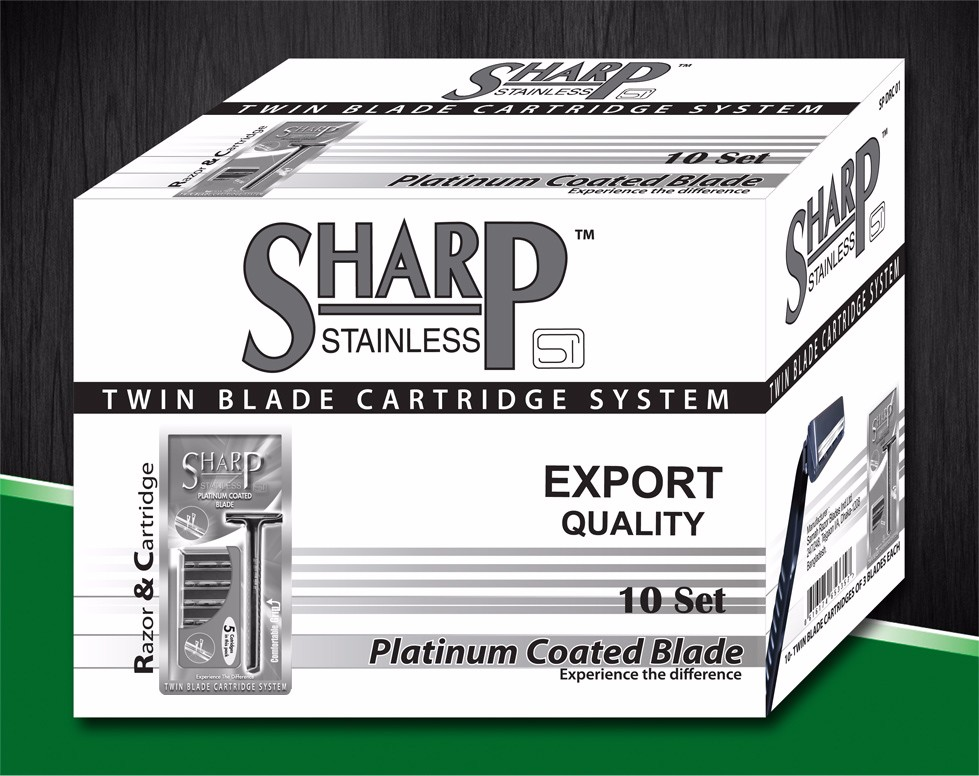 SHARP TWIN BLADE CARTRIDGE.