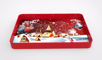 wooden christmas tray, serving tray