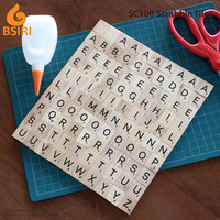 wooden scrabble board for scrap booking