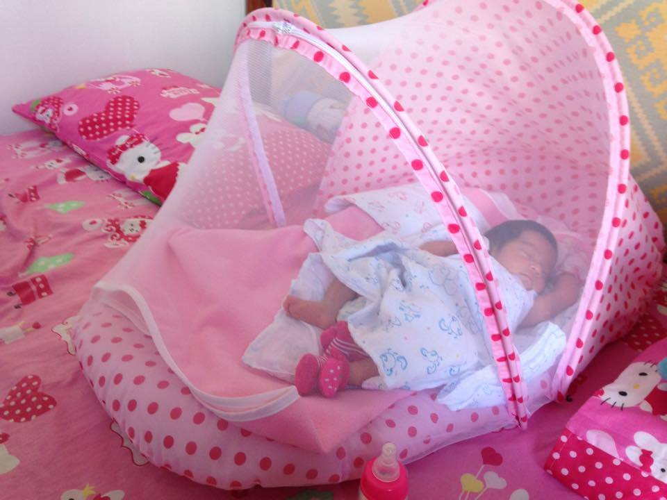 Baby comforter with Mosquito Net made in Thailand