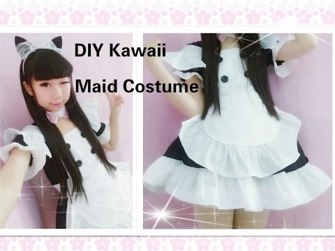 Kawaii Anime Cosplay DIY - How to Make Neko Maid Cafe Costume/outfitsEasy& adorable)