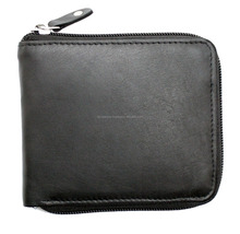 Mens Full Zip Around Genuine Leather Multi Card ID Coin Pocket Wallet Purse FC-34167