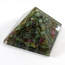 Wholesale Chakra Stones : Big Orgone Ruby Fuchsite Pyramid Without SBB Coil ( 80-90MM)
