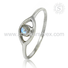 Splendent Rainbow Moonstone Natural Gemstone 925 Sterling Silver Ring Handmade Silver Jewelry Supplier