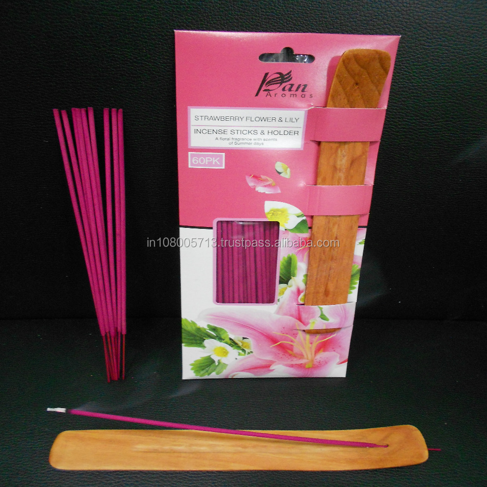 Strawberry Flower & Lily Fragrance Agarbatti Indian Incense Stick