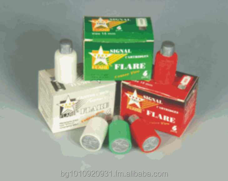 TruFlare signal cartridges 15 mm- red,green, white,