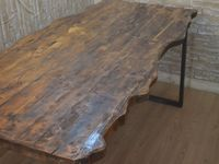 natural handmade wooden table top