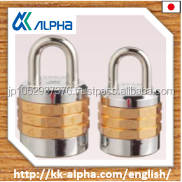 Alpha Japanese High quality 3 digits resettable number lock with beautiful silver color./2880 series padlock