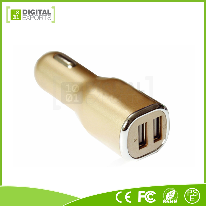 Digital Exports custom 2 in 1 car charger adapter/ multi car charger for iPhone