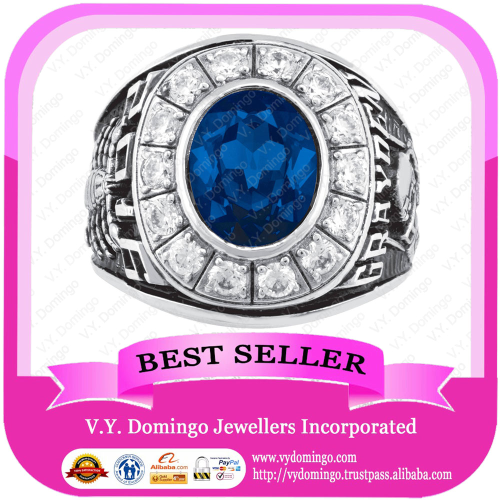 Pure Sterling Silver 925 Wholesale Collage Class Ring