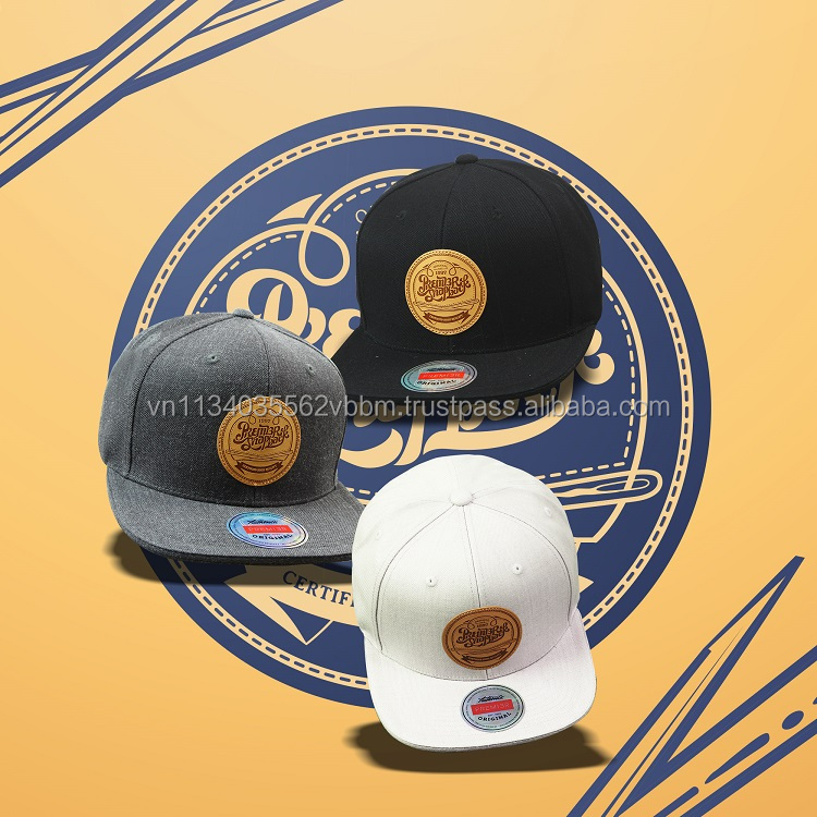 [P892-P895] LEATHER CIRCLE by PREMI3R headwear brand we provide impressive snapback cap contents for wholesale