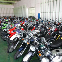 Various types of famous used importing motorcycles from Japan in good condition