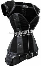 2016 GOTHIC BLACK FAUX LEATHER STEAM CORSET FC-3525