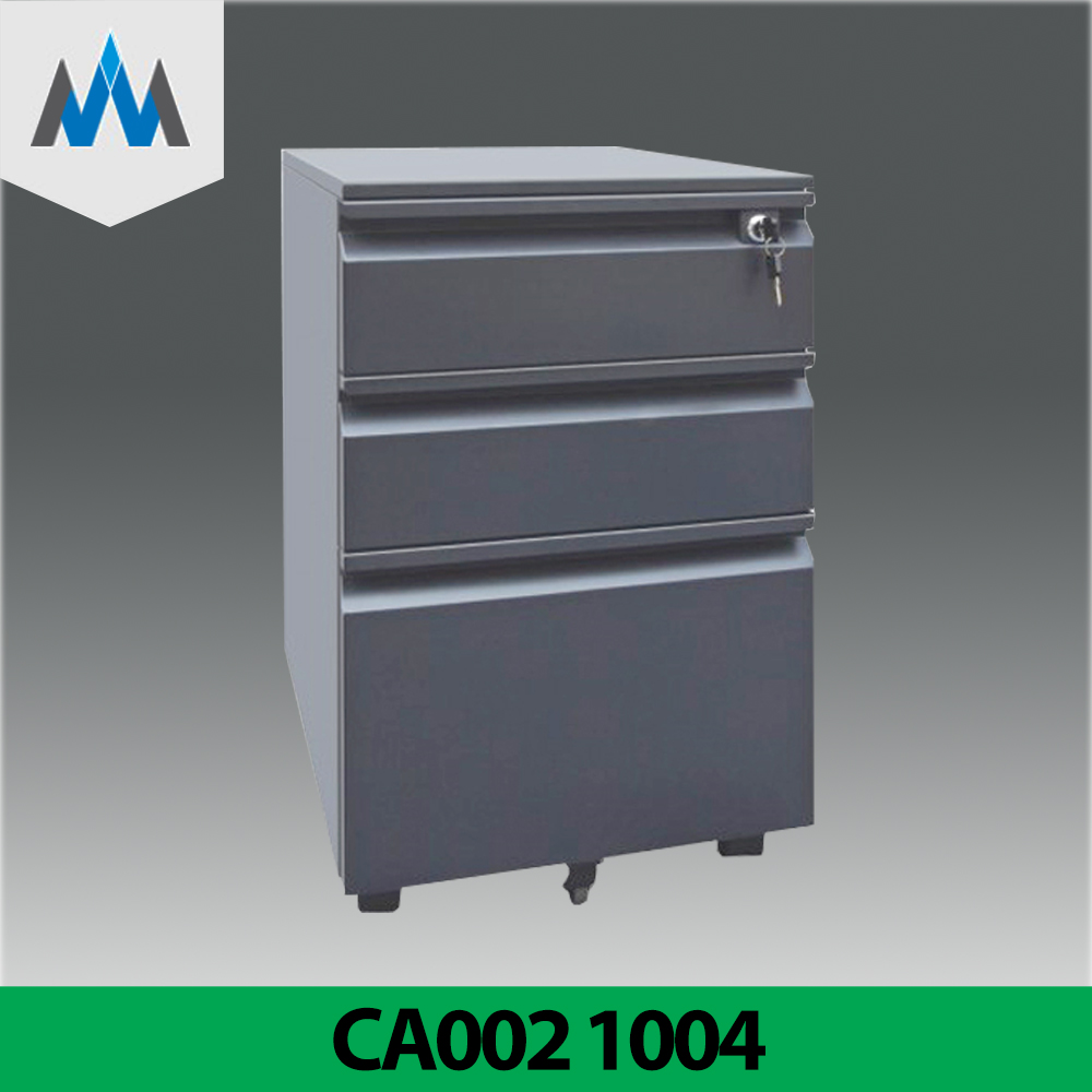 Steel Office Cabinet Drawer Dark Color Movable Filing Container