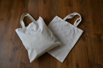 Blank 4.5oz Cotton Tote Bags - Natural Color- 38cm x 42cm