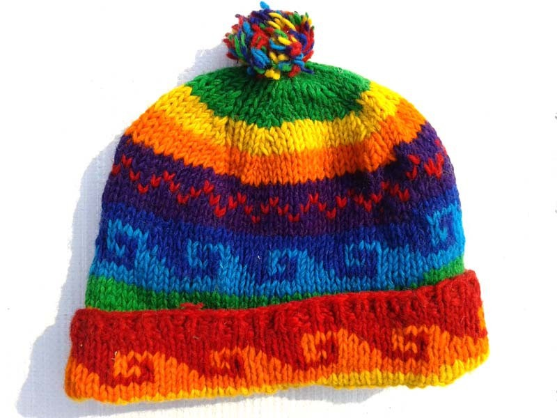 Hand knitted woolen hats animal hats