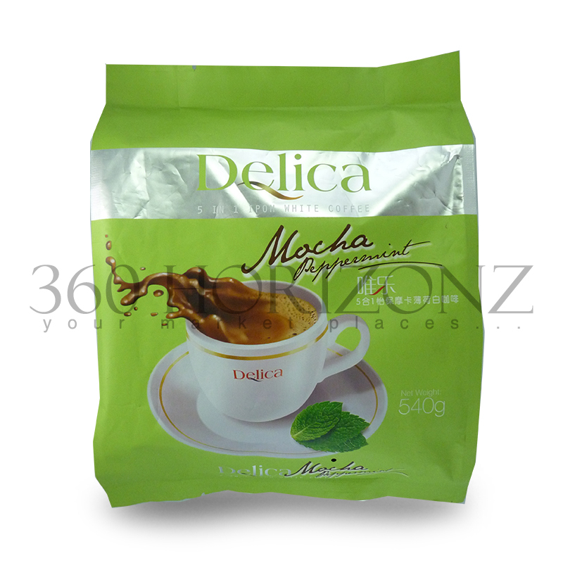 Delica 5 in 1 Ipoh Mocha White Coffee (36g x 15 sachets)