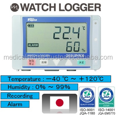 Accurate and compact body temperature and humidity data logger for quality control, made in Japan