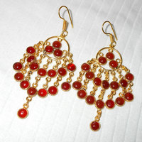 JHUMKA DESIGN 2015 GOLD VINTAGE FASHION EARRINGS WITH GOLD PLATED OVER BRASS- BJS960