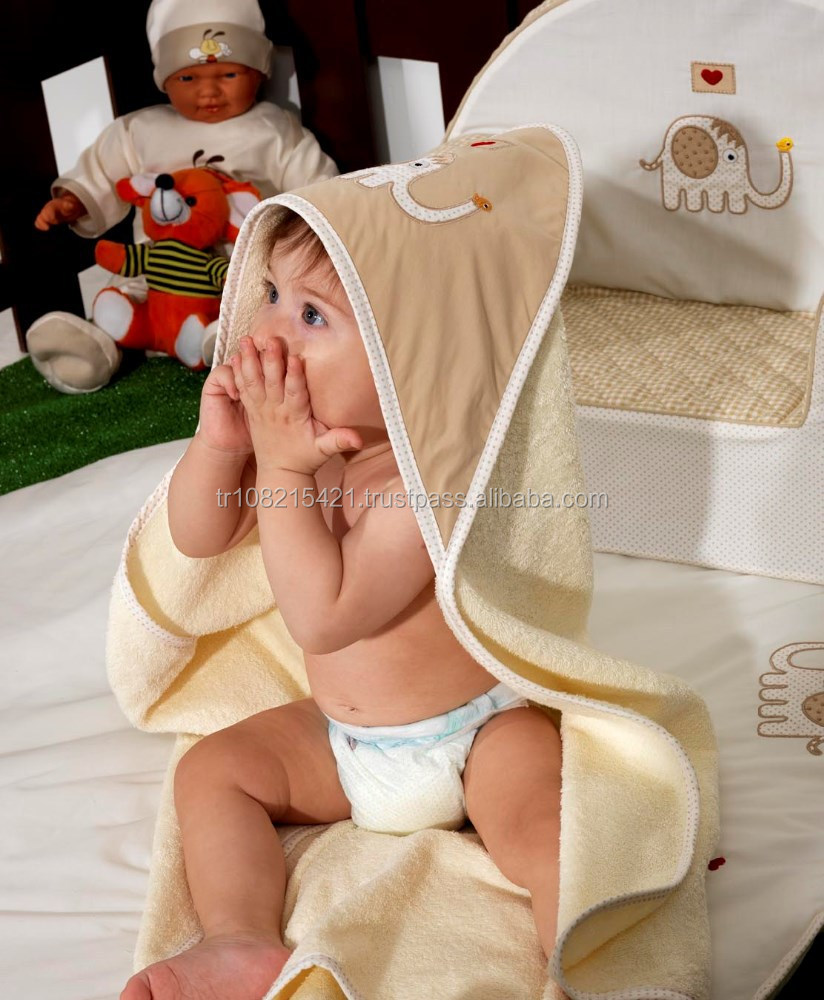 Luxury Combed Cotton Baby Hooded Towels