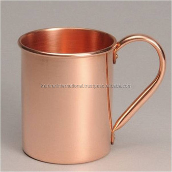 FOOD SAFE LACQUER COATED BPA FREE MOSCOW MULE 100% COPPER MUG, FDA APPROVED OBLONG MOSCOW MULE DRINKING MUG WITH RIVETED HANDLE