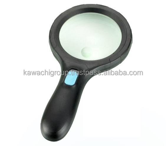 Kawachi 1.8X,5X 138mm Lens Handheld Big Magnifying Glass with LED Lights Glass Magnifier for Reading