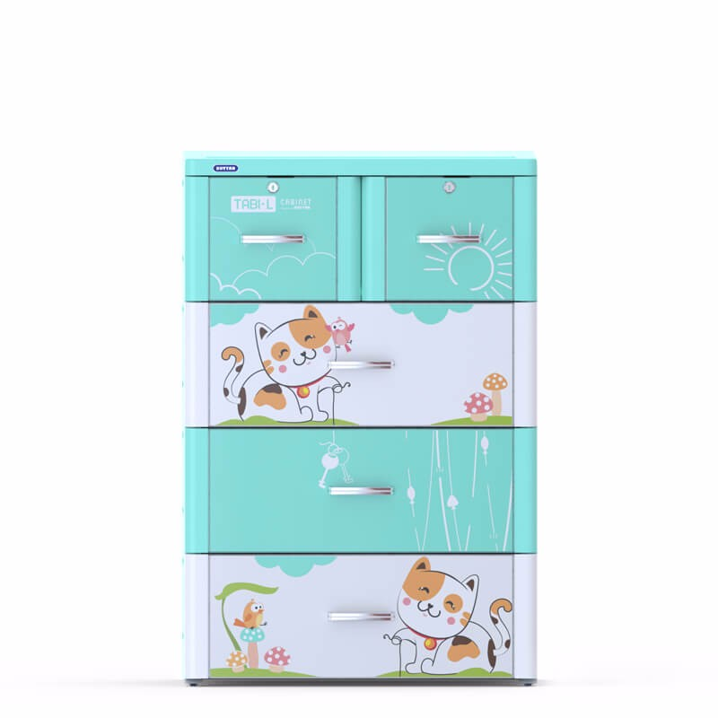 Plastic drawer/ cabinet plastic drawers/TABI-L CABINET - 4 DRAWERS - Duytan