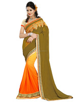 Surat Hot selling weightless padding embroidery sarees