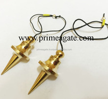 Wholesale Golden Egg Shape Metal Pendulum : Golden Pointed UFO Brass Pendulum INDIA