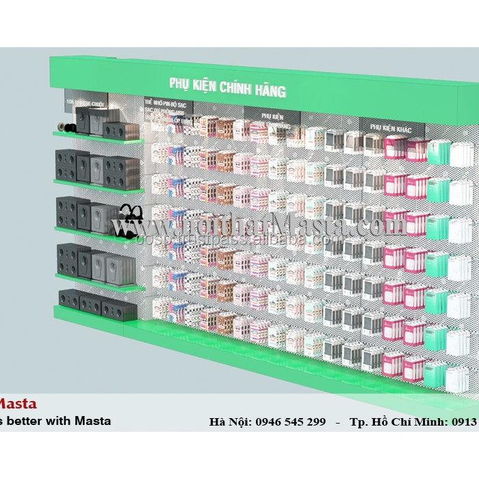 Professional mobile phone accessories shop interior design
