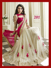Net Georgette Designer Sarees with trendy blouse