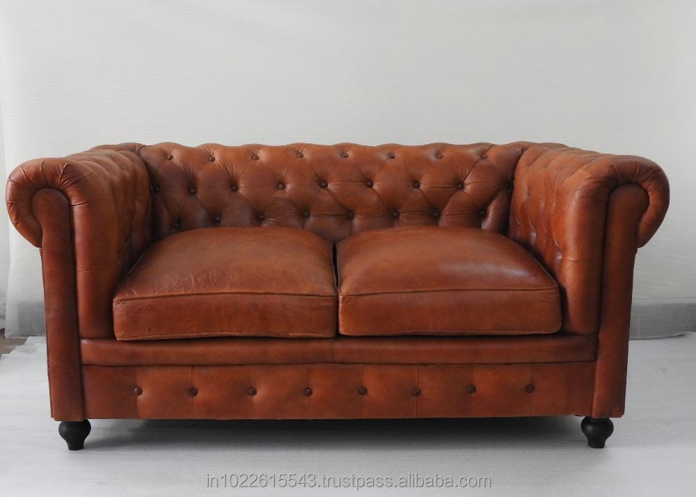 Antico chesterfield divano in pelle mobili di design per ...