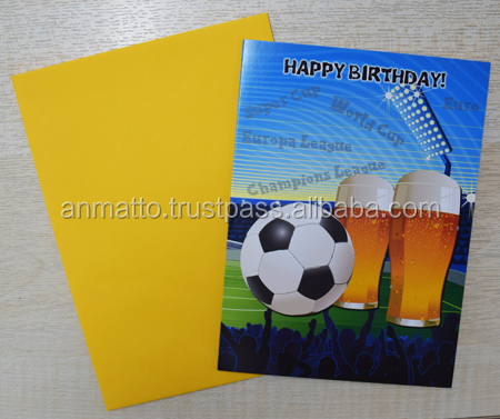 Birthday cards for men - beer & football theme