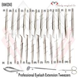 Excellent Stylish Satin Eyelash Extension Tweezers / Stainless Steel Eyelash Tweezers MARIG SURGICAL CO