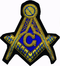 Masonic Embroidery Badges, Masonic Logo Patches