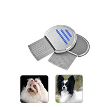 Pet Lice Comb Round Professional Stainless Steel Dog Cat Comb Grooming Brush Tool