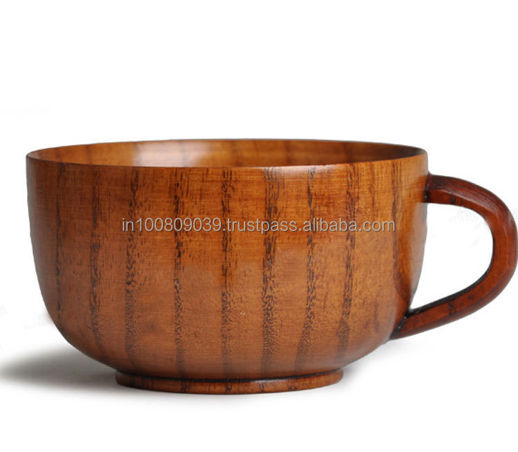 Wooden Tea Coffee Mugs