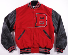 Micro Suede Letterman Varsity Jacket Red wool body & black Leather Varsity Jacket\high school varsity jacket different colors