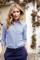 New Look women's Vintage Check Long Sleeve Casual Shirt