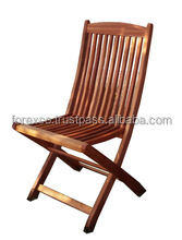 Outdoor Wooden Folding Chair, Acacia, Oiled finishing from Viet Nam
