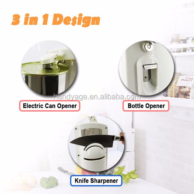 [Handy-Age]-Electric 3 in 1 Can Opener (HK3500-013)