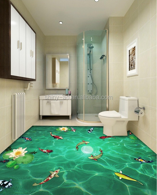 large format high quality anti-slip stickers design for floor
