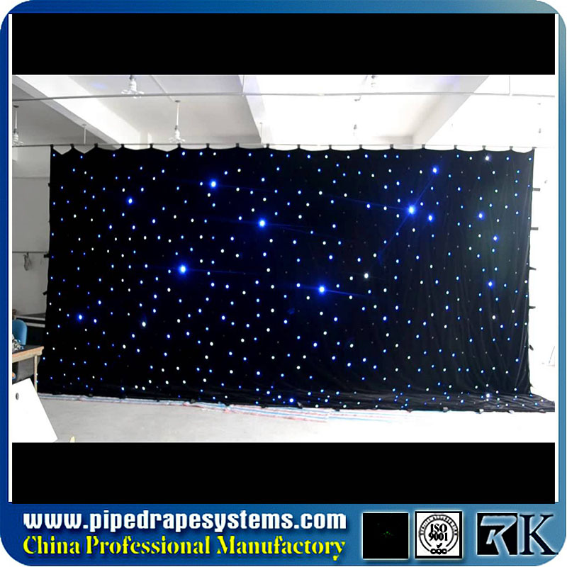 108 sliding led star vision drop ceiling curtain